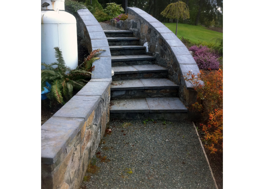 Mortar Rock Stairs