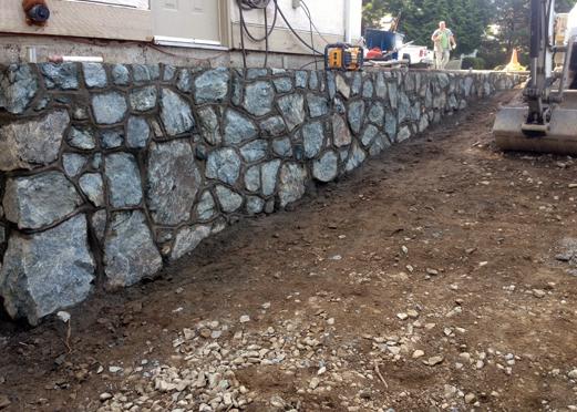 Mortar Rock Wall 6
